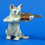K1442 Cat With Violin