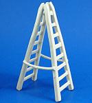 K351 Miniature White Porcelain Ladder