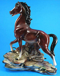 Maddux Of California 1960s Bay Horse Tv Lamp