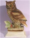 1960s Japan Ceramic Owl On Base