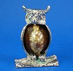 Small Metal And Shell Owl