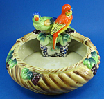 1930s Japan Porcelain Budgies On Dish