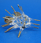 Blown Glass Gold Trim Blowfish