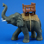 K581 Matte Porcelain Elephant With Seat