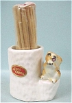 Squirrel On Stump Toothpick Holder