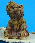 Itty Bitty World Miniature Teddy Bear On Card