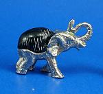 Miniature Metal And Shell Elephant