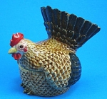 K6161 Brown Chicken Hen Trinket Box