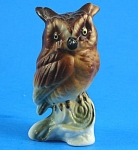 Miniature Bone China Owl