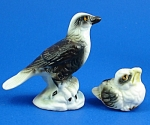 Miniature Bone China Eagle And Chick