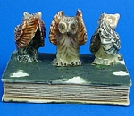 K482 Morality Owls On Antique Style Book