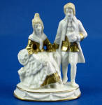1920s German Porcelain Miniature Couple Figurine
