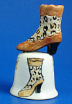 Hand Painted Ceramic Thimble - Boot