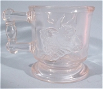C1890-1910 Small Clear Deer And Cow Mug