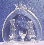 Blown Glass Manger Scene Ornament