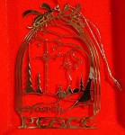 1989 Marshall Fields Peace On Earth Metal Ornament