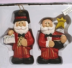 1999/2000 Dressed Up Santa Ornaments