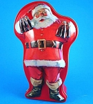 Santa With Coca Cola Tin