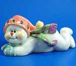 Playful Snowman Figurine