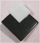 Black And White Plastic Pin Pair