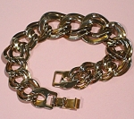 Unsigned Two Tone Link Bracelet