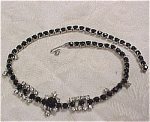 Unmarked Black And Rhinestone Choker