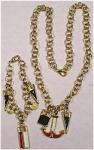 Unmarked Nautical Necklace And Bracelet Set