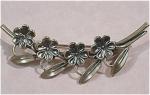 Beau Sterling Silver Flower Pin