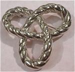 Trifari Silvertone Knot Pin