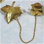 Monet Double Maple Leaf Pins