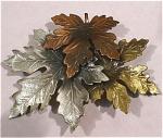Three Tone Metal Leaf Pin