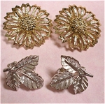 Sarah Coventry Clip Earrings - Two Pair