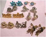Nine Pair Of Vintage Unsigned Screw Back Earrings