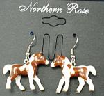 Je006 Pinto Foal Earrings