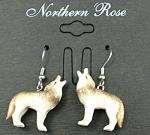 Je016 Howling Wolf Earrings
