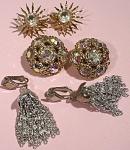 Three Pair Of Sara Coventry Clip Earrings