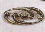 Italian Sterling Silver Swirl Pin