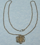 Unmarked Silver Flower Necklace