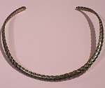 Sterling Silver Slip On Choker Necklace