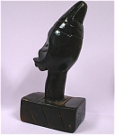 Small African Carved Wood Head