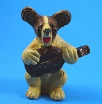 Miniature Terrier Dog Playing Fiddle