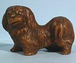 1930s Miniature Wood Composite Pekingese Dog