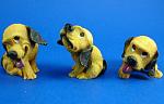 Resin Hound Dog Puppy Trio