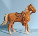 1960s Painted Pot Metal Palomino Western Horse