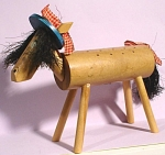 1960s Enesco Wood Horse Hors D'oeuvre Holder