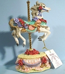 Heritage House Resin Carousel Horse Musical