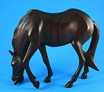 Carved Wood Grazing Horse