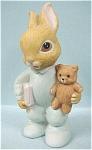 Homco Baby Bunny With Teddy Bear