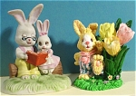 Two Rabbit Figurines