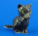 Hagen-renaker Miniature Tabby Cat Washing